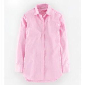 Boden Girl Fit Shirt 8 Button Down Pink Cotton